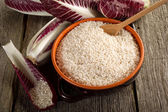 Raw rice anch chicory — Stock Photo
