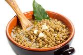 Lentils soup- lenticchie — Stock Photo