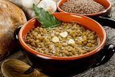 Lentil soup on bowl — Stock Photo