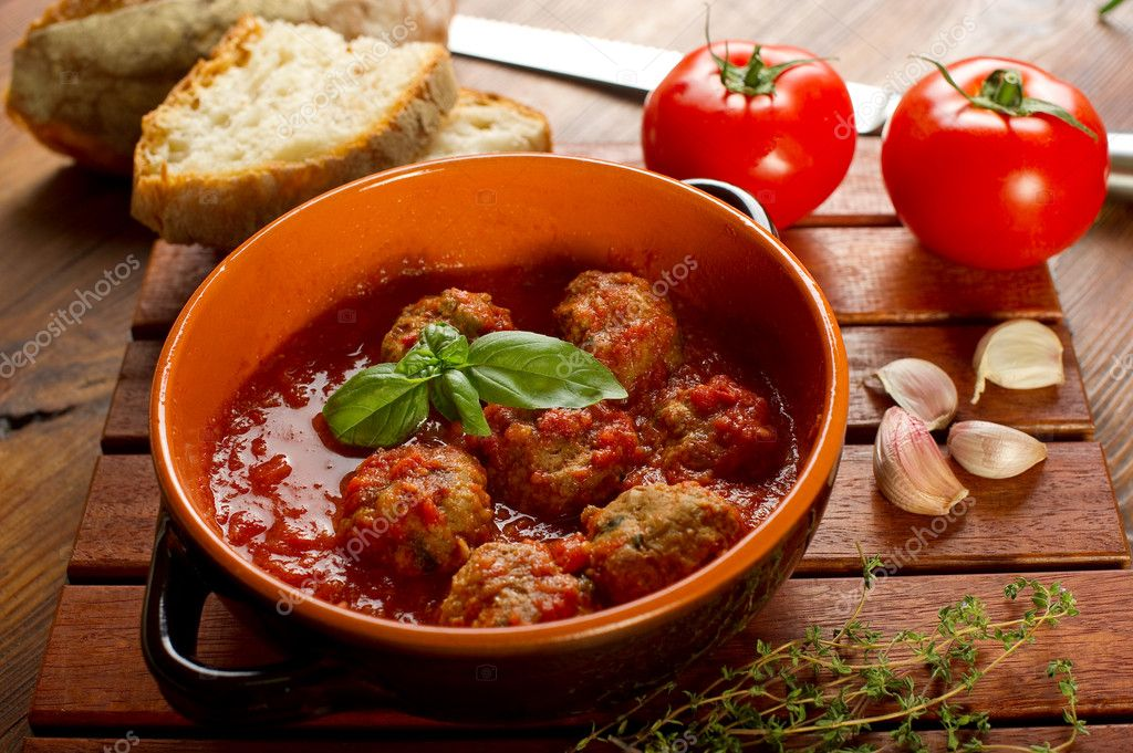 Meat balls with tomatoes sauce  Stock Photo #6463747