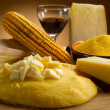 Polenta and cheese - Stock Photo