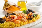 Fish paella — Stock Photo