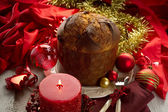 Panettone traditional italian christmas dessert — Stock Photo