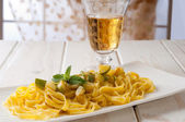 Pasta with zucchinis — Stock Photo