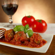 Meat balls with tomatoes sauce — Stock Photo #6491285