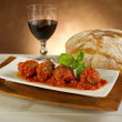 Meat balls with tomatoes sauce — Stock Photo #6491289