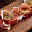 Stock Photo: Italiappetizer with parmham and dried figs
