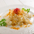 Risotto with saffron pistil — Stock Photo
