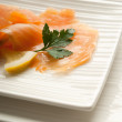 Smoked salmon marinated — Stock Photo