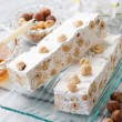 Nougat with ingredients — Stock Photo