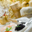 Mix canape on christmas table — Stock Photo