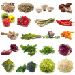 Collage of different vegetables — Foto de Stock