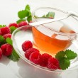 Stock Photo: Raspberry tea
