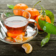 Tangerine tea - Stock Photo