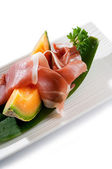 Parma ham with melon — Stock Photo