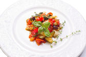 Ratatouille on dish — Stock Photo