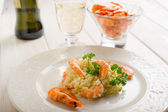 Risotto with shrimp — Stock Photo