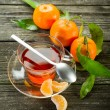 Tangerine tea — Stock Photo