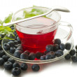 Blueberry tea - Stock Photo