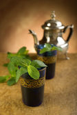 Moroccan mint tea — Stock Photo