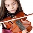 Little girl play violin — Stock Photo