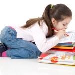 Little girl studyng — Stock Photo #6511489