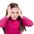 Little girl with headache and problems — Stock Photo #6511568