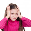 Little girl with headache and problems — Stock Photo #6511570
