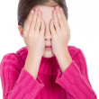 Royalty-Free Stock Photo: Young little girl covering eyes