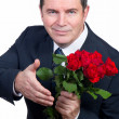 Stock Photo: Mwith roses