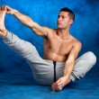 Man stretching - Stock Photo
