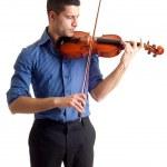 Man with violin — Stock Photo
