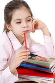 Little girl studyng — Stock Photo