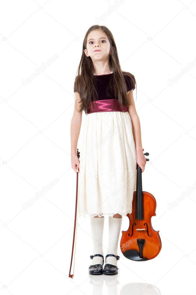 Little girl play violin — Stock Photo #6511501
