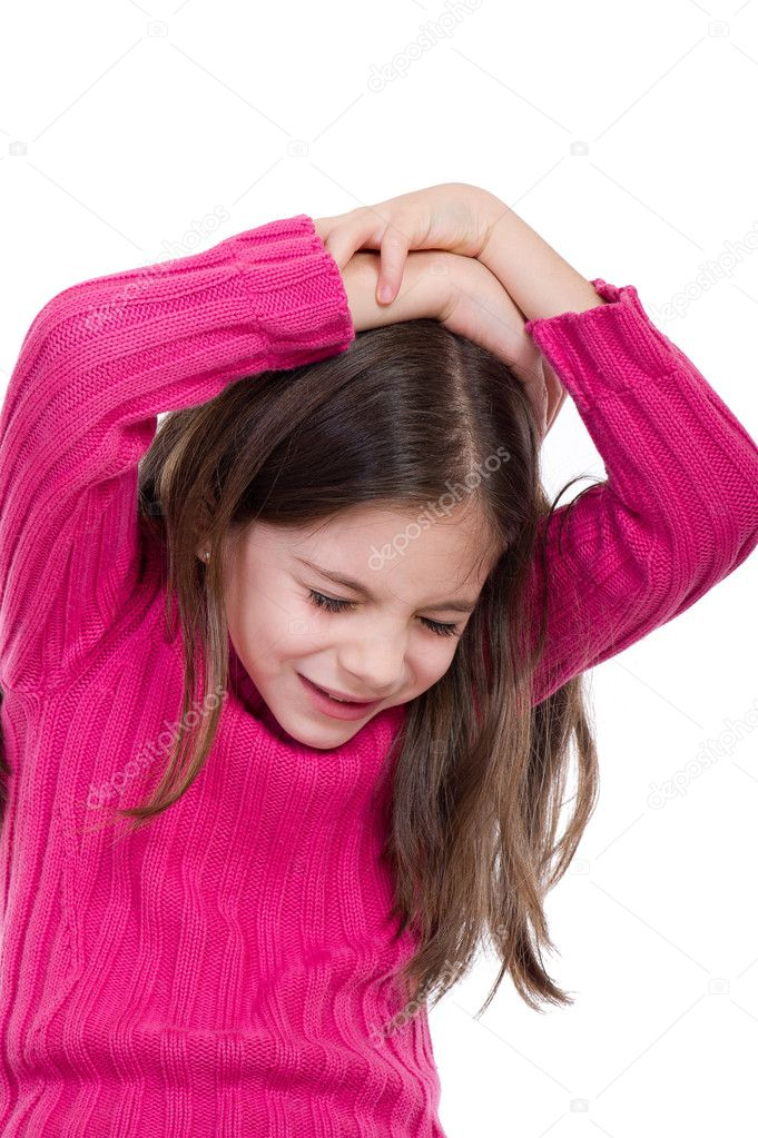 Do not beat the children, child abuse — Stock Photo #6511633