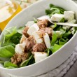Mixed salad with fresh spinach tuna and feta cheese — Stock Photo #6534536