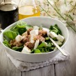 Mixed salad with fresh spinach tuna and feta cheese — Stock Photo #6534611