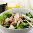 Mixed salad with fresh spinach tuna and feta cheese — Stock Photo #6534658