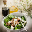 Mixed salad with fresh spinach tuna and feta cheese — Stock Photo #6534852