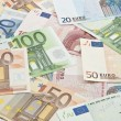 Stock Photo: Euro banknotes background