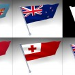 Five Oceania flags on a pole — Stock Photo #6691443
