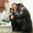 Homeless man in depression — Stock Photo #6212535