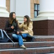 Teenage students on campus — Stock Photo #6212568