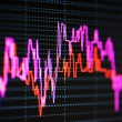 Stock index dynamics on the monitor — Stock Photo