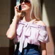 Young woman on the phone — Stock Photo #6217857