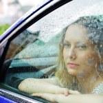 Sad woman and rain — Stock Photo #6233057