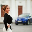 Young woman on a city street — Stock Photo #6233418