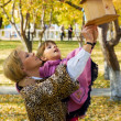 Royalty-Free Stock Photo: Mother and daughter in a park