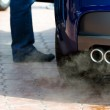 Exhaust pipe and fume gases — Stock Photo #6289850