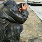 Homeless in despair — Stock Photo